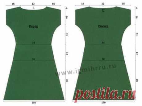 Платье спицами. Размер: 44/46  Вам потребуется: 430 г пряжи Alpina «VIVEN» (100 % бамбука; 405 м/50 г) зелёного цвета; спицы № 3.   Техника вязания.  Показать полностью…