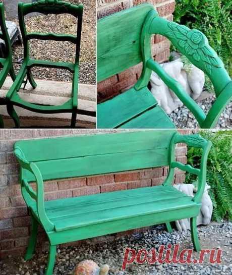 Превращаем старые стулья в диванчики и скамейки: 22 примеров - Сам себе мастер - медиаплатформа МирТесен