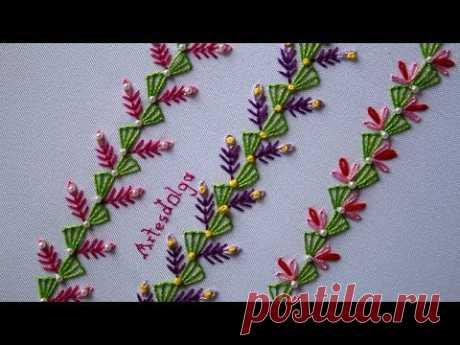 Hand Embroidery: Decorative Stitches #5 | Bordado a mano: Puntadas Decorativas #5 | Artesd'Olga - YouTube