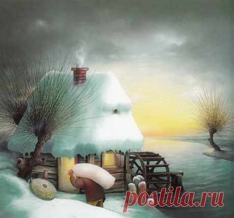 Наивная живопись Хорватии / Зима (ч.2): vasily_sergeev — ЖЖ