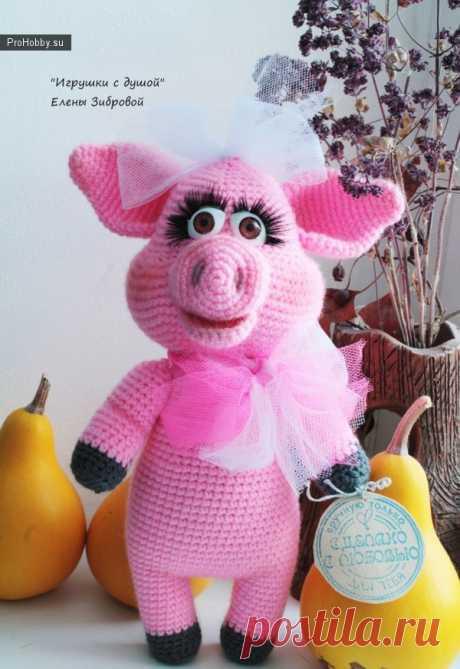 Хрюшка Фрося / Вязание игрушек / ProHobby.su | Вязание игрушек спицами и крючком для начинающих, мастер классы, схемы вязания