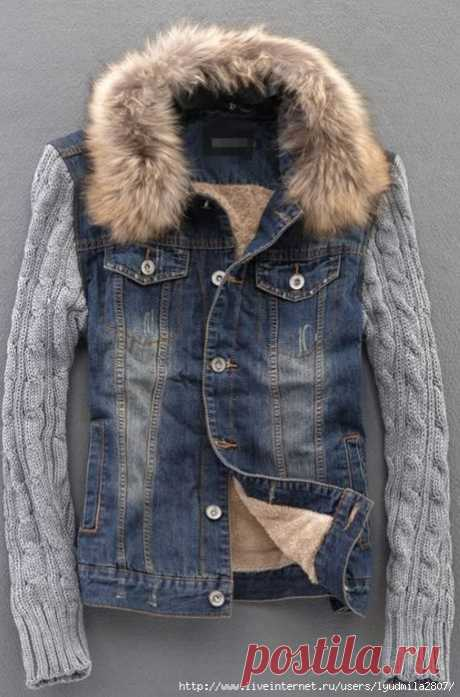 Ideas of alteration of leather and jeans jackets + knitting