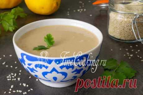 Кунжутная паста Тахина, тахиниилитхина, она же сезамовая паста