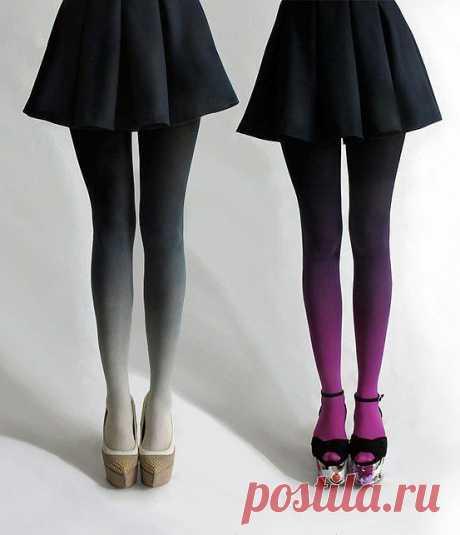 Градиент / Носки, колготки, леггинсы / Модный сайт о стильной переделке одежды и интерьера
