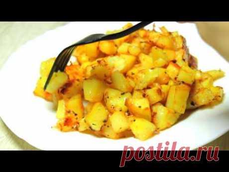 "Картошка ""Паутинка"". Рецепт проще не придумаешь! МИНИМУМ ингредиентов!"
