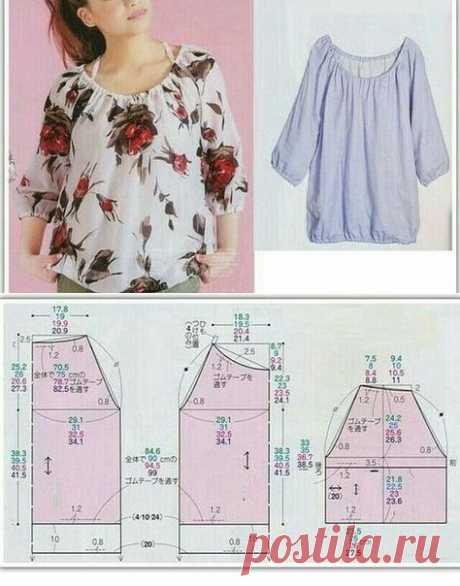 Простые блузочки. Подборка идей и выкройки