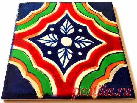 талавера, мексиканская плитка, плитка ручной работы