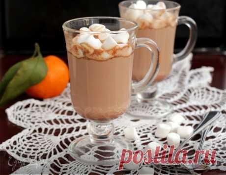 Горячий шоколад. Ингредиенты: шоколад черный горький, сливки 33-35% , молоко   Официальный сайт кулинарных рецептов Юлии Высоцкой