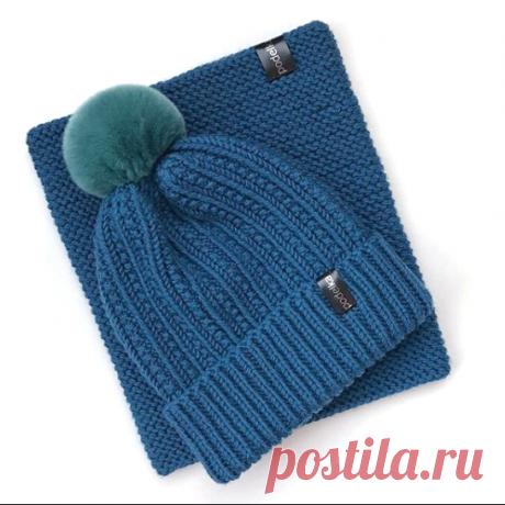 Как связать шапочку спицами, описание. Автор описания @podelka_knit