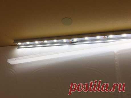 Знаете, как легко и просто выполнить подсветку кухонного гарнитура светодиодами? | СамоДел | Яндекс Дзен