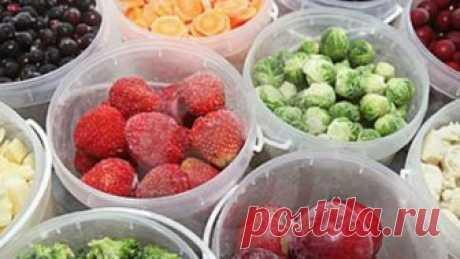 Научитесь профессионально замораживать фрукты и овощи! Отличные советы!
