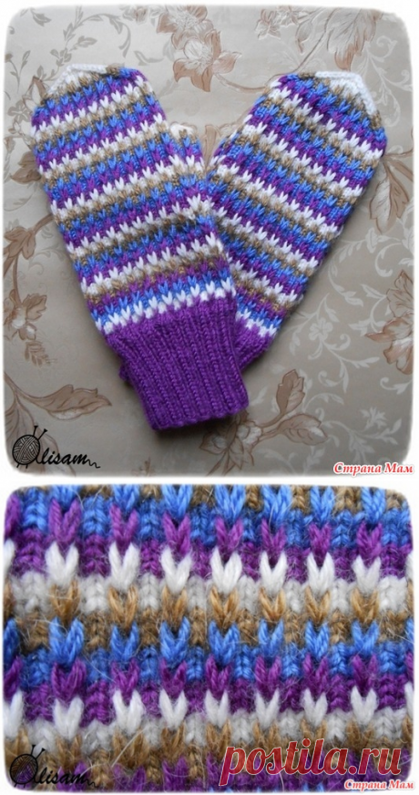 Mittens a pattern from the extended loops