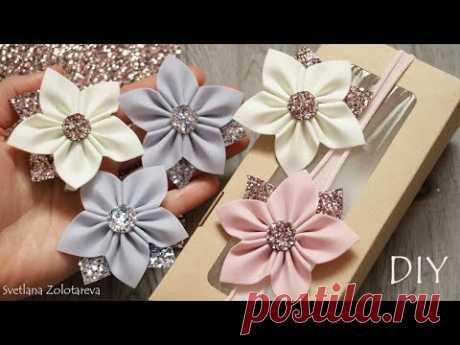 Милые цветы для волос из фоамирана Заколка Повязка - YouTube