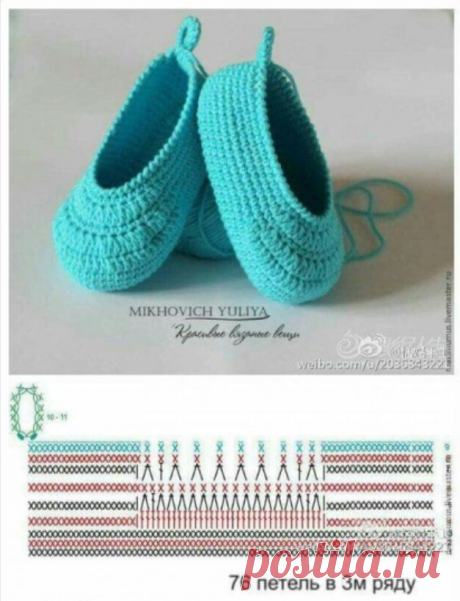 Summer bootees a hook (selection) | we knit to kids | Yandex the Zen