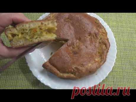 Как приготовить заливной пирог с капустой. ЗАЛИВНОЙ  пирог с капустой в духовке