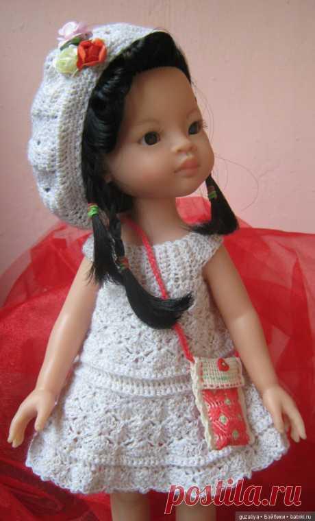 Вяжем сарафанчик / Куклы Паола Рейна, Paola Reina / Бэйбики. Куклы фото. Одежда для кукол