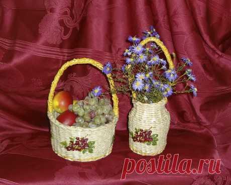 Сплету на заказ корзины любой конфигурации и расцветки.