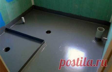 Гидроизоляция ванной комнаты под плитку – что лучше использовать из материалов