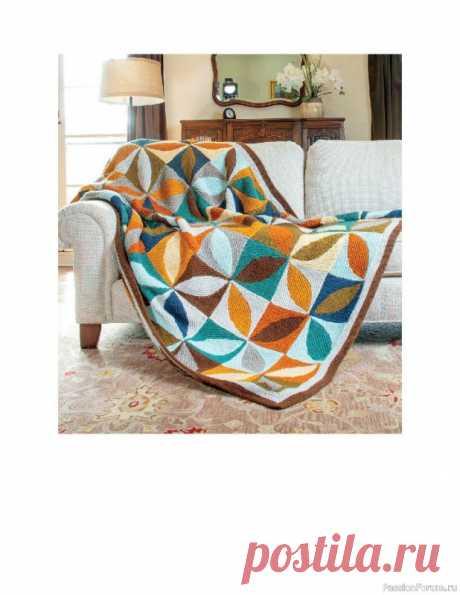 Схемы узоров для вязанных одеял. Geometric Knit Blankets | Вязание спицами аксессуаров