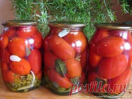 Вкусные консервированные помидоры без стерилизации.