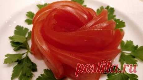Роза Из Помидора. Украшение из овощей. Как красиво нарезать. Карвинг. Лайфхак рецепт с фото