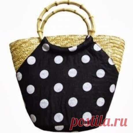 Летняя сумка корзинка (выкройка)