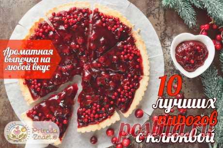 ТОП 10 лучших РЕЦЕПТОВ: Пирог с клюквой