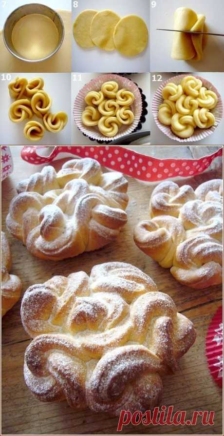 Air lacy rolls. Nobody will resist such beauty! Look as it is easily possible to make these laces... | Four tastes