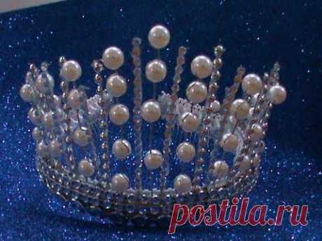 DIY/МК Как сделать новогоднюю корону для принцесс и королев своими руками