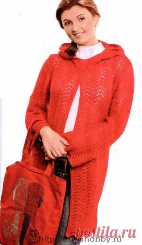 Жакет-пальто с капюшоном