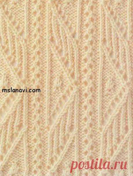 Ажурный узор спицами | Вяжем с Ланой