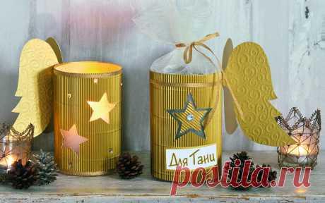 Рождественская упаковка для сладостей своими руками