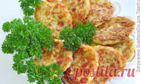 """Кабачковые """"мини-пиццы"""", а попросту - оладьи. Мы их обожаем - пошаговый рецепт приготовления с фото"""