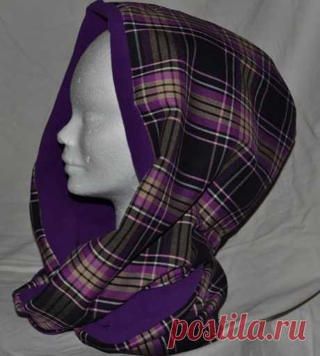 Шьем модный шарф-хомут с капюшоном — очень простая выкройка!   Краше Всех