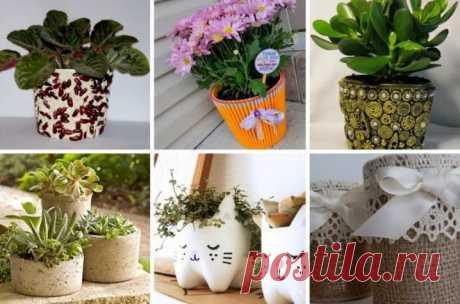 Горшки для цветов своими руками (44 фото): как сделать цветочные горшки для орхидеи и топиария из подручных материалов своими руками? Изготовление деревянных и глиняных моделей