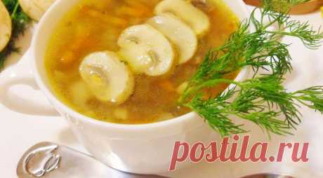 Томленый грибной суп - ПУТЕШЕСТВУЙ ПО САЙТУ. Осень – самая грибная пора. Лесные грибы придадут этому супу восхитительный аромат. Для жителей мегаполисов (как вариант) можно приготовить этот суп из шампиньонов. Грибной суп с гречкой получается очень вкусным и ароматным. Если исключить заправку из сметены, то этот суп может разнообразить меню постящихся и вечно худеющих. ИНГРЕДИЕНТЫ шампиньоны свежие …