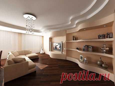 Яркие варианты украшения квартиры гипсокартоном