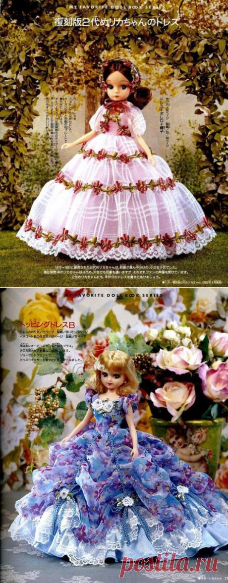 Бальные платья для кукол+выкройки