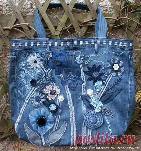 Как использовать старые джинсы?