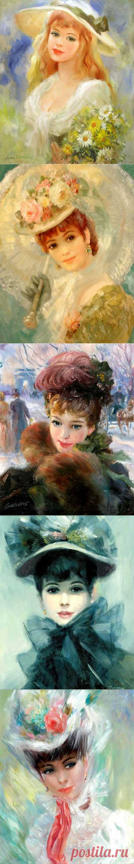 Британский художник Frederic John LLoyd Strevens (1902-1990)