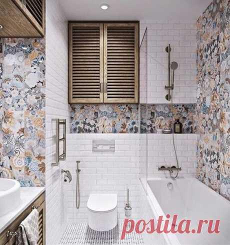 Идеи для маленьких ванных комнат: керамическая плитка или покраска | ДНЕВНИК АРХИТЕКТОРА | Яндекс Дзен