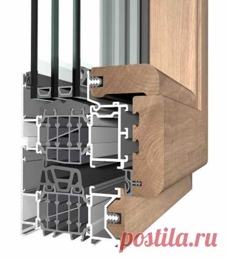 Купить алюминиево-деревянные окна в Минске | Алюмодеревянные окна, цены