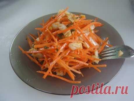Салат из пекинской капусты и моркови. Маринкины творинки