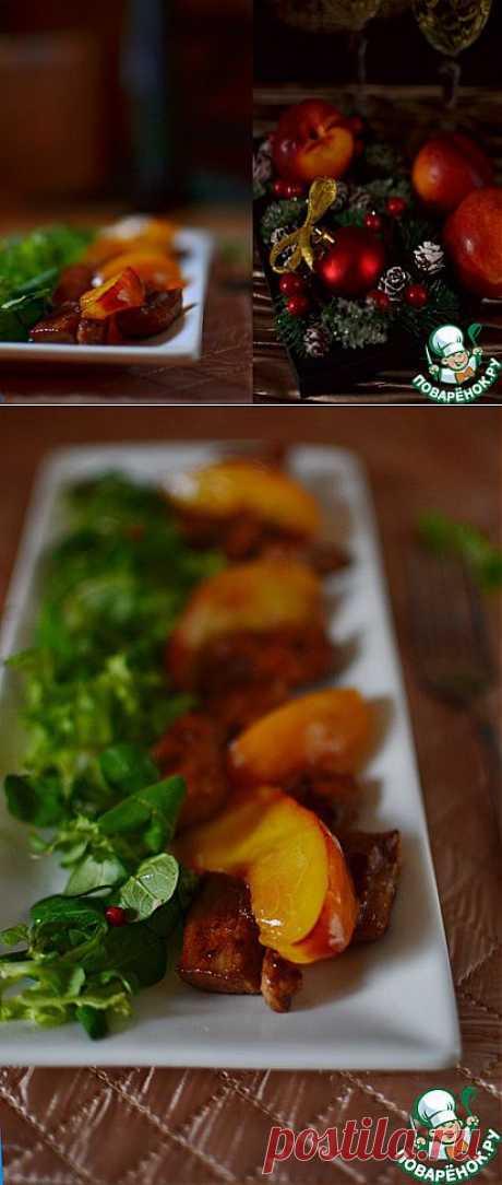Тёплый салат с куриной грудкой и нектаринами - кулинарный рецепт