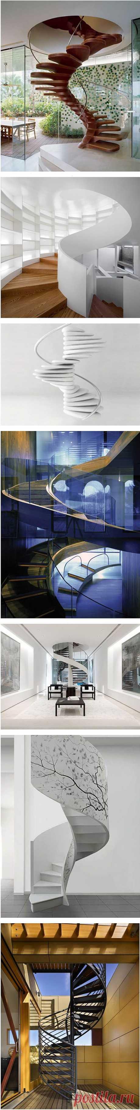 Винтовые лестницы (для гостиной)