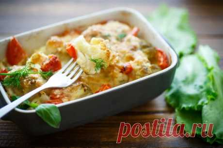 The recipe from Anita Tsoi: baked pudding with a cauliflower, the recipe of preparation - House Portal