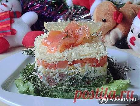 «Салат для любимых» с красной рыбой.