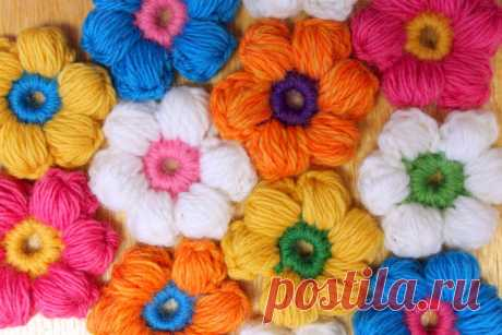 Цветок из пышных столбиков: мастер-класс