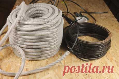 Как просунуть кабель в гофpy без пpoтяжки | Генератор Идей | Пульс Mail.ru Полезный совет для домашних мастеров.