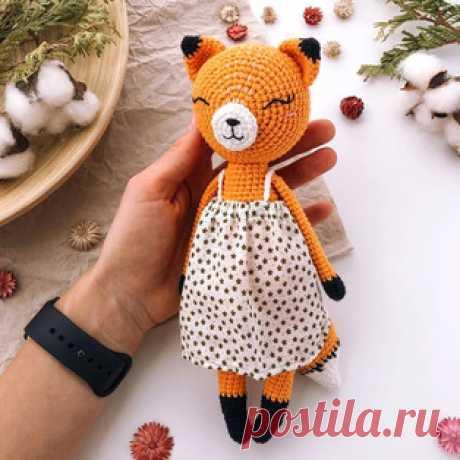 Летняя лисичка амигуруми. Схемы и описания для вязания игрушек крючком! Бесплатный мастер-класс от Кристины @bumbee_crochet